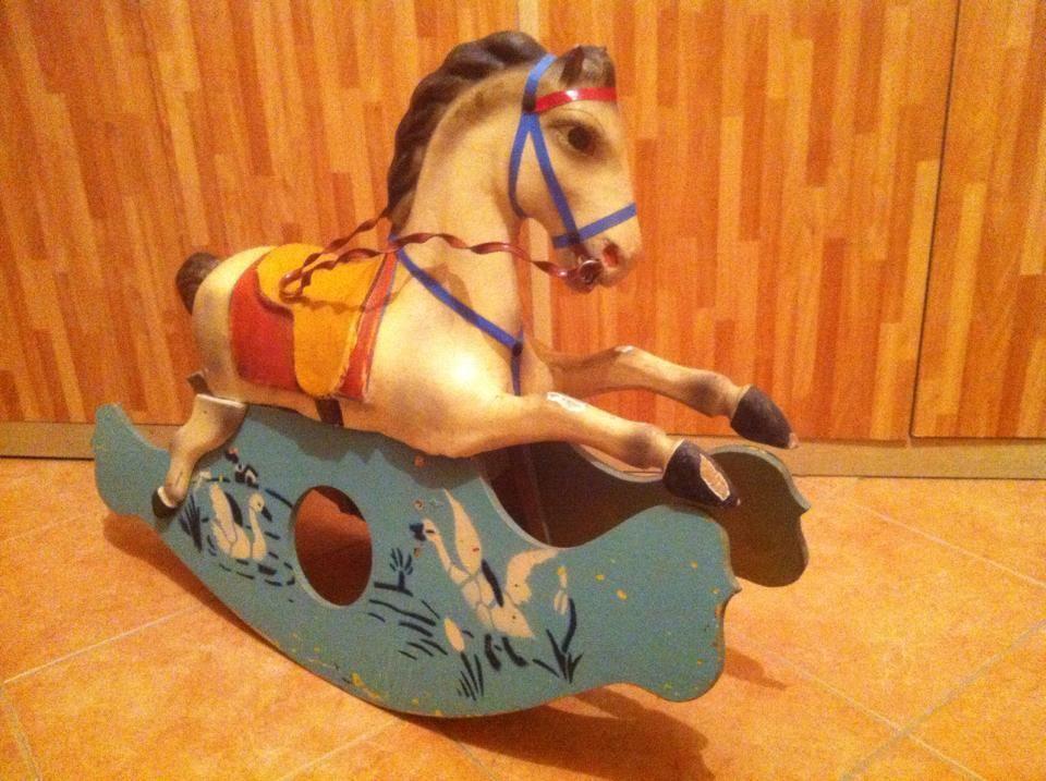 Cavallo A Dondolo In Legno.Cavallo A Dondolo In Legno Antico Gmf Made In Italy Anni 50 Gugumed